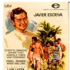 Folhetos de mão de filmes antigos de cinema: MOLOKAI LA ISLA MALDITA (FOLLETO DE MANO ORIGINAL CON PUBLICIDAD CINE CERVANTES VILLENA. Lote 68747177