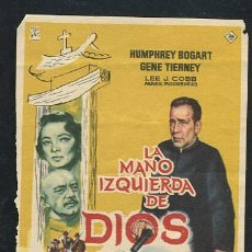 Cine: PROGRAMA LA MANO IZQUIERDA DE DIOS - HUMPHREY BOGART, GENE TIERNEY. Lote 68834201