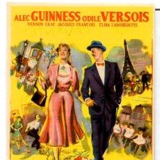 Cine: A PARIS CON AMOR (FOLLETO DE MANO ORIGINAL CON PUBLICIDAD CINE CERVANTES VILLENA). Lote 68927313