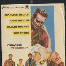 Cine: PROGRAMA LA LEY DE LOS FUERTES - CHARLTON HESTON, ANNE BAXTER, GILBERT ROLAND. Lote 68929213