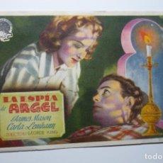 Flyers Publicitaires de films Anciens: PROGRAMA LA ESPIA DE ARGEL.-JAMES MASON BB. Lote 68977421