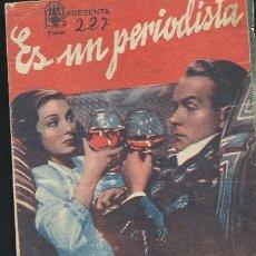 Cine: PROGRAMA ES UN PERIODISTA VALERIE HOBSON-BARRI K.BARNES CON PUBLICIDAD. Lote 68979877