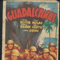 Cine: PROGRAMA SOLIGÓ - GUADALCANAL. ANTHONY QUINN. PRESTON FOSTER. Lote 68998645
