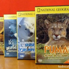 Cine: NATIONAL GEOGRAPHIC PACK 4 DOCUMENTALES (PUMA DELFÍN CANGURO OSO POLAR). Lote 69016789