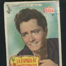 Cine: PROGRAMA LA ESPADA DE MONTECRISTO-PHIL KARLSON-JOHN DEREK-ANTHONY QUINN-(1951). Lote 69074549