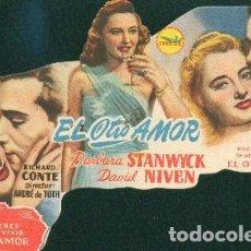 Cine: EL OTRO AMOR (CON PUBLICIDAD). Lote 69298673