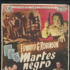 Cine: PROGRAMA MARTES NEGRO - EDWARD G. ROBINSON, PETER GRAVES. Lote 69377661