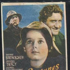 Cine: PROGRAMA CAPITANES INTREPIDOS - SPENCER TRACY - MICKEY ROONEY . Lote 69377989