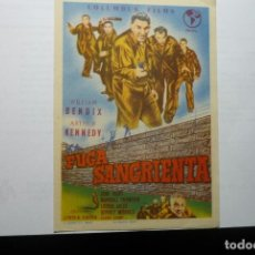 Cine: PROGRAMA FUGA SANGRIENTA -WILLIAM BENDIX. Lote 69596929