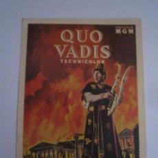 Cine: QUO VADIS - PEPLUM PETER USTINOV NERON - FOLLETO DE MANO ORIGINAL ESTRENO EN PERFECTO ESTADO. Lote 111804324