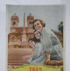 Cine: FOLLETO DE MANO ''TRES ENAMORADAS CON LUCIA BOSE AÑOS 40. Lote 69643789