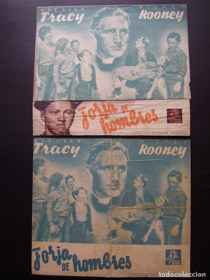 FORJA DE HOMBRES, SPENCER TRACY, MICKEY ROONEY, VARIANTE (Cine - Folletos de Mano - Drama)