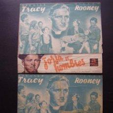 Cine: FORJA DE HOMBRES, SPENCER TRACY, MICKEY ROONEY, VARIANTE. Lote 69667421