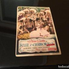 Cine: PROGRAMA DE MANO ORIGINAL - FELIZ Y ENAMORADA- SIN PUBLICIDAD. Lote 69881217