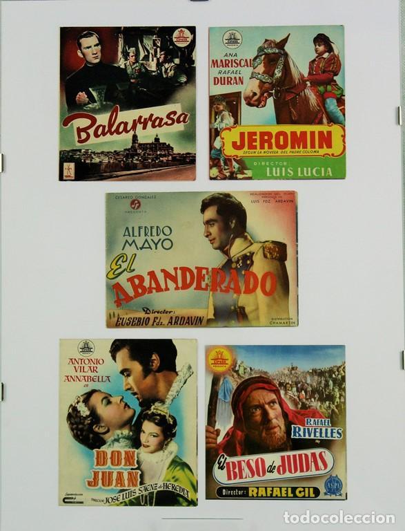 CINCO PROGRAMAS DE MANO ORIGINALES DE CINE ESPAÑOL: BALARRASA, JEROMÍN, EL ABANDERADO, DON JUAN, EL (Cine - Folletos de Mano - Clásico Español)