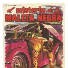 Cine: EL MISTERIO DE LA MALETA NEGRA JOACHIM HANSEN SENTA BERGER HANS REISER - PROGRAMA CINE ORIGINAL. Lote 69963865
