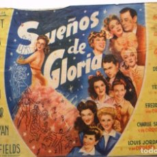 Cine: UN FOLLETO DE MANO DE LA PELICULA ''SUEÑOS DE GLORIA'' CON ORSON WELLES DE LOS AÑOS 40. Lote 70043029