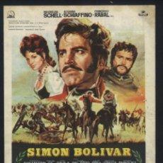Cine: P-6686- SIMON BOLIVAR (LA EPOPEYA DE BOLÍVAR) (CINE NUEVO) (MAXIMILIAN SCHELL - ROSANNA SCHIAFFINO). Lote 70205131