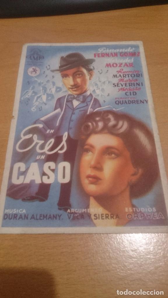 PROGRAMA DE CINE SIMPLE ERES UN CASO CON PUBLICIDAD (Cine - Folletos de Mano - Clásico Español)