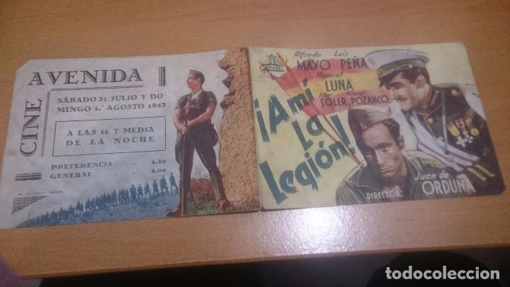 PROGRAMA DE CINE DOBLE A MI LA LEGION CON PUBLICIDAD (Cine - Folletos de Mano - Clásico Español)