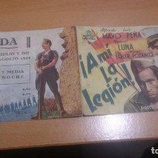 Cine: PROGRAMA DE CINE DOBLE A MI LA LEGION CON PUBLICIDAD. Lote 70481225