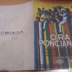 Cine: PROGRAMA DE CINE DOBLE ORA PONCIANO SIN PUBLICIDAD. Lote 70482805