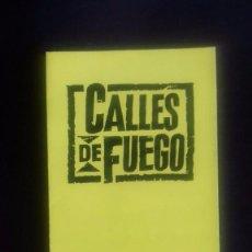 Cine: CALLES DE FUEGO , MICHAEL PARÉ Y DIANE LANE - FOLLETO DE MANO TRIPLE COMO NUEVO . Lote 70487553