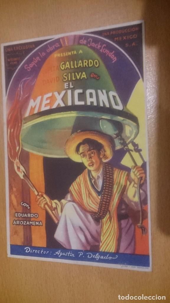 PROGRAMA DE CINE SIMPLE CON PUBLICIDAD EL MEXICANO (Cine - Folletos de Mano - Clásico Español)