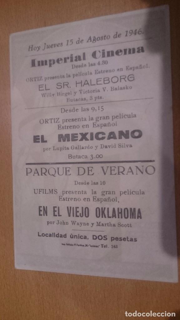 Cine: programa de cine simple con publicidad el mexicano - Foto 2 - 70488485