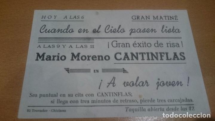 Cine: programa de cine simple con publicidad cantinflas en a volar joven - Foto 2 - 70489113