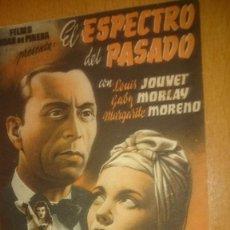 Cine: PROGRAMA DE CINE SIMPLE CON PUBLICIDAD EL ESPECTRO DEL PASADO. Lote 70489345