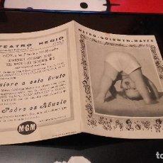 Cine: PROGRAMA DE MANO ORIGINAL DOBLE - EL PADRE ES ABUELO- CON PUBLICIDAD CINE DE YECLA . Lote 70574585