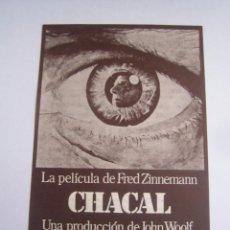 Cine: CHACAL FOLLETO DE MANO LOCAL ORIGINAL CON CINE IMPRESO. Lote 71072297