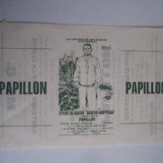 Cine: PAPILLON STEVE MCQUEEN DUSTIN HOFFMAN FOLLETO DE MANO LOCAL ORIGINAL CON CINE IMPRESO. Lote 71072457