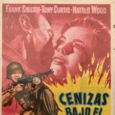 Cine: CENIZAS BAJO EL SOL-FRANK SINATRA-TONY CURTIS.NATALIE WOOD- CINES MURCIA Y PARQUE( MURCIA). Lote 71120309