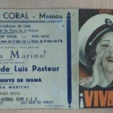 Cine: PROGRAMA DE CINE - ¡ VIVA LA MARINA ! CON DICK POWELL Y RUBY KEELER. Lote 71407027