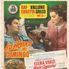 Cinema - 047. CINE. Folleto de mano. LOS HEROES DEL DOMINGO, cine Marin 1955 - 71815335