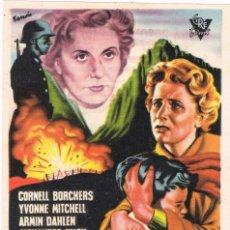 Folhetos de mão de filmes antigos de cinema: 047. CINE. FOLLETO DE MANO. CORAZON DIVIDIDO, CINE BOSQUE 1956. Lote 71815543