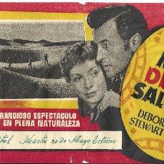 Cine: LAS MINAS DEL REY SALOMON PROGRAMA SENCILLO GRANDE MGM ESTRENO STEWART GRANGER DEBORAH KERR. Lote 53883364