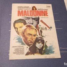 Cinema - PROGRAMA DE MANO ORIGINAL - MALDONNE - CON PUBLICIDAD MAJESTIC CINEMA 1971 - 72071115
