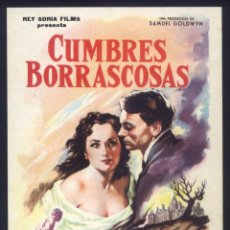 Cine: P-6803- CUMBRES BORRASCOSAS (WUTHERING HEIGHTS) (MERLE OBERON - LAURENCE OLIVIER - DAVID NIVEN). Lote 72134223