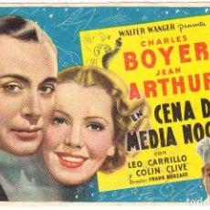 Flyers Publicitaires de films Anciens: CENA DE MEDIANOCHE - CINE JARDIN SAN QUINTI MEDIONA. Lote 72185427