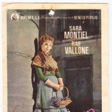 Flyers Publicitaires de films Anciens: LA VIOLETERA - SALON IDEAL SAN QUINTI MEDIONA. Lote 72185615