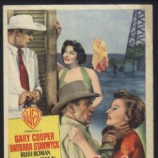 Cine: P-6805- SOPLO SALVAJE (BLOWING WILD) (GARY COOPER - BARBARA STANWYCK - RUTH ROMAN - ANTHONY QUINN). Lote 72231607