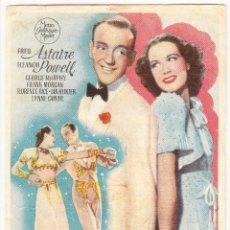 Flyers Publicitaires de films Anciens: LA NUEVA MELODIA DE BROADWAY - CINE JARDIN SAN QUINTI MEDIONA 1945. Lote 72277139
