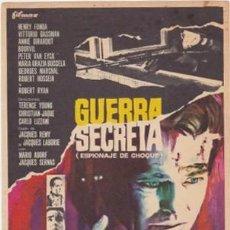 Flyers Publicitaires de films Anciens: GUERRA SECRETA. Lote 73049739