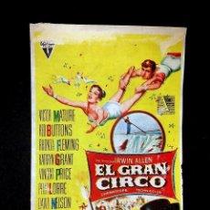 Cine: EL GRAN CIRCO, FOLLETO DE MANO. Lote 73388987