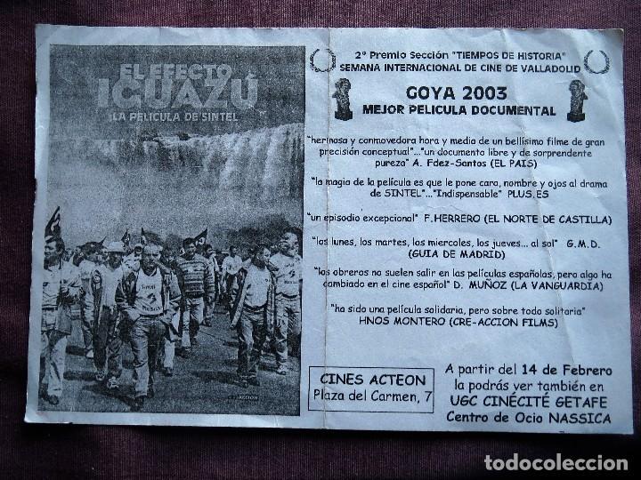EL EFECTO IGUAZU (Cine - Folletos de Mano - Documentales)