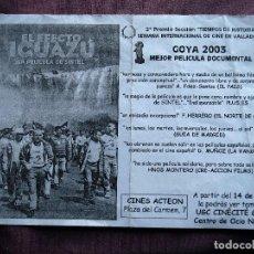 Cine: EL EFECTO IGUAZU. Lote 73455011