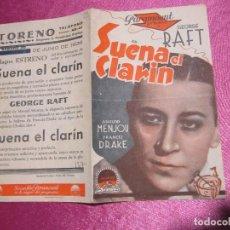 Cine: SUENA EL CLARIN GEORGE RAFF PROGRAMA DE CINE DOBLE AÑOS 30/40 ORIGINAL G. Lote 73573827